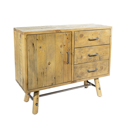 Uma Small Sideboard comes in a natural finish with a country style and is available from roomshaped.co.uk