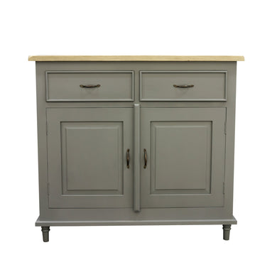Verity Cupboard comes in grey and a natural finish with a country style and is available from roomshaped.co.uk