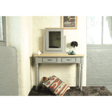 Load image into Gallery viewer, Verity Dressing Mirror comes in grey and a natural finish with a country style and is available from roomshaped.co.uk