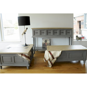 Verity Large Sideboard comes in grey with a country style and is available from roomshaped.co.uk