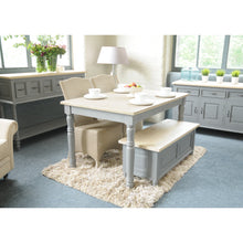 Load image into Gallery viewer, Verity Large Sideboard comes in grey with a country style and is available from roomshaped.co.uk