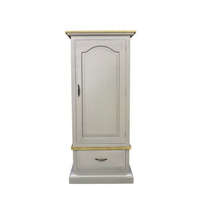 Verity Single Wardrobe comes in grey with a country style and is available from roomshaped.co.uk