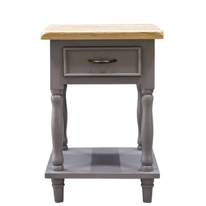 Verity Tall Side Table comes in grey with a country style and is available from roomshaped.co.uk
