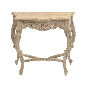 Debby Carved Console comes in an oak finish with a retro classic style and is available from roomshaped.co.uk