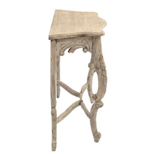 Load image into Gallery viewer, Debby Carved Console comes in an oak finish with a retro classic style and is available from roomshaped.co.uk