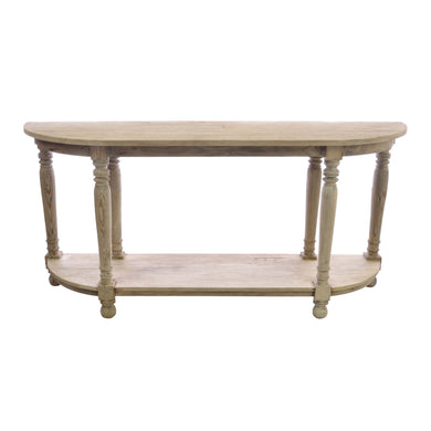 Gerry Long Console Table comes in an oak finish with a retro classic style and is available from roomshaped.co.uk