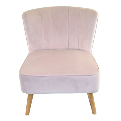 Fariz Chair comes in pink with a luxe style and is available from roomshaped.co.uk