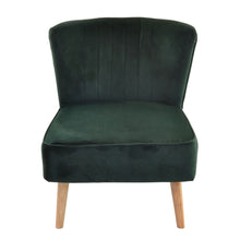 Load image into Gallery viewer, Novi Chair comes in green with a luxe style and is available from roomshaped.co.uk