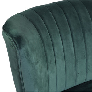 Novi Chair comes in green with a luxe style and is available from roomshaped.co.uk
