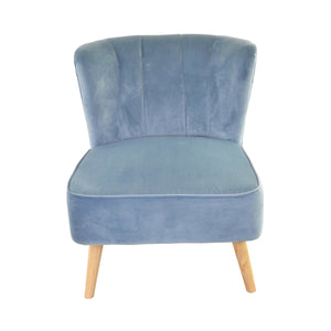 Fadlika Chair comes in blue with a luxe style and is available from roomshaped.co.uk