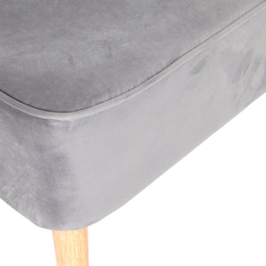 Raditya Chair comes in grey with a luxe style and is available from roomshaped.co.uk
