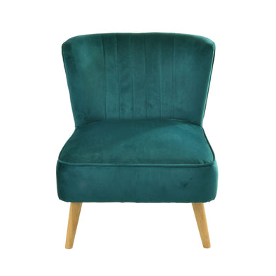 Branimir Chair comes in green with a luxe style and is available from roomshaped.co.uk