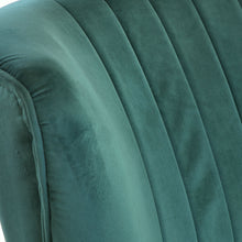Load image into Gallery viewer, Branimir Chair comes in green with a luxe style and is available from roomshaped.co.uk