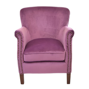 Hasna Armchair comes in pink with a luxe style and is available from roomshaped.co.uk