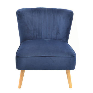 Gideon Chair comes in blue with a luxe style and is available from roomshaped.co.uk