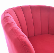 Load image into Gallery viewer, Indra Tub Chair comes in pink with a luxe style and is available from roomshaped.co.uk