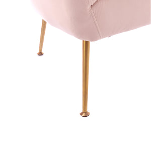Remy Tub Chair comes in pink with a luxe style and is available from roomshaped.co.uk