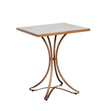 Zeta Cafe Table comes in a copper finish with a luxe style and is available from roomshaped.co.uk
