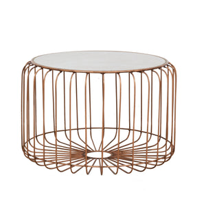 Zeta Coffee Table - Copper and Ceramic comes in a copper finish with a luxe style and is available from roomshaped.co.uk