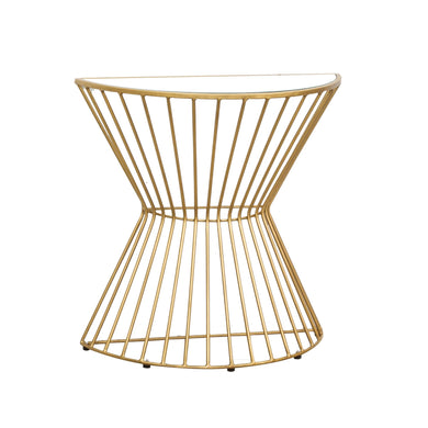 Zeta Curve Console comes in a gold finish with a luxe style and is available from roomshaped.co.uk