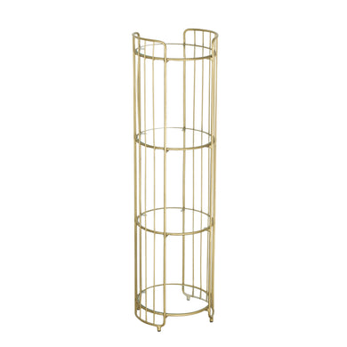 Zeta Display Shelves comes in a gold finish with a luxe style and is available from roomshaped.co.uk