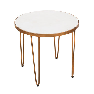 Zeta Hairpin Side Table comes in a copper finish with a luxe style and is available from roomshaped.co.uk