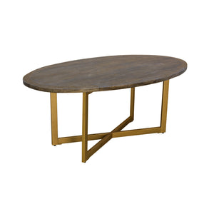 Zeta Oval Table comes in a gold finish with a gold frame style and is available from roomshaped.co.uk