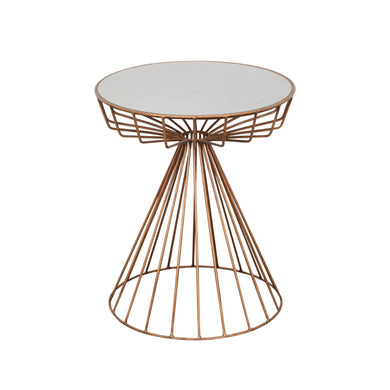 Zeta Side Table - Copper and Ceramic comes in a copper finish with a luxe style and is available from roomshaped.co.uk