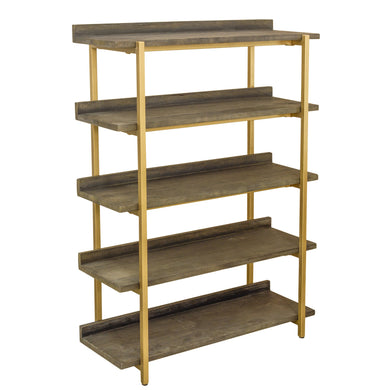 Zeta Tall Shelves comes in a gold finish and a natural finish with a gold frame style and is available from roomshaped.co.uk