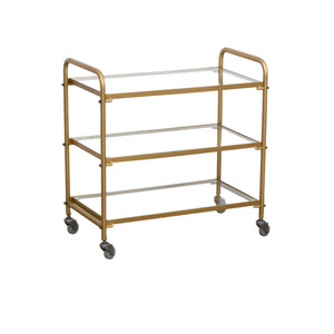 Zeta Trolley Gold comes in a gold finish with a luxe style and is available from roomshaped.co.uk