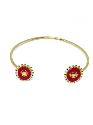 "Bracelet Femme "" Queen Flower "" Couleur Or 