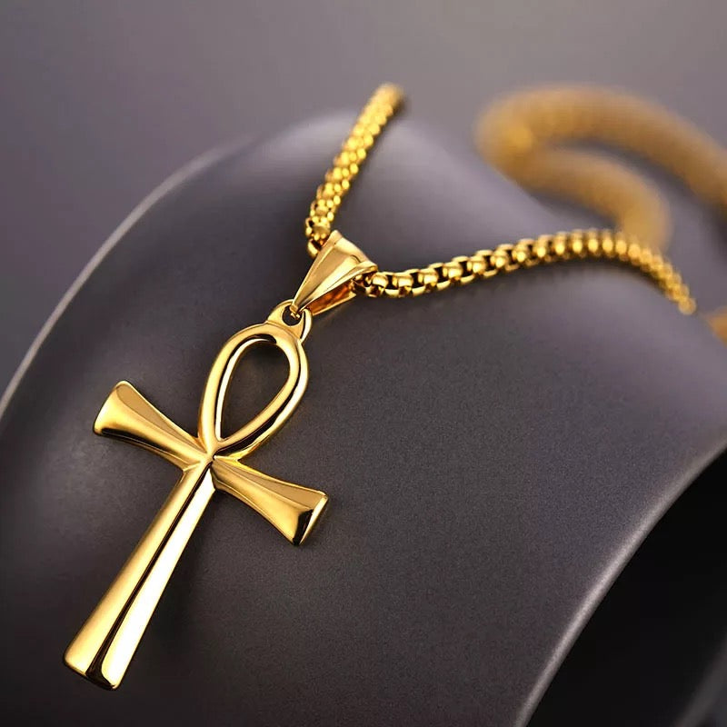 Collier « Big Ankh » Couleur Or | Bijoux d'exception | Paris