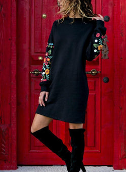 Robe-Pull FLOWERS Minute Mode Noir L