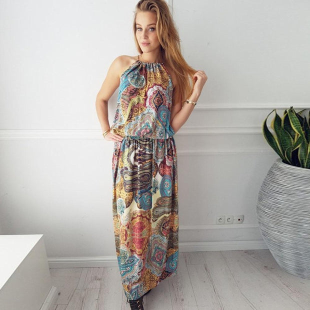 Robe Boho Licou Minute Mode Multi L