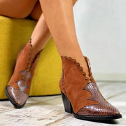 Bottines Retro Feminines Minute Mode Marron 35