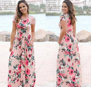 Longue Robe Florale Minute Mode Rose S