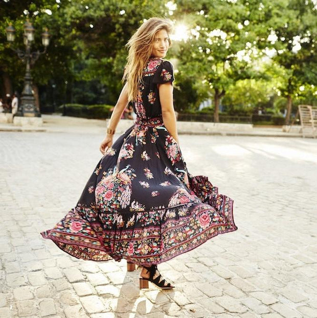 Robe Boho florale Minute Mode