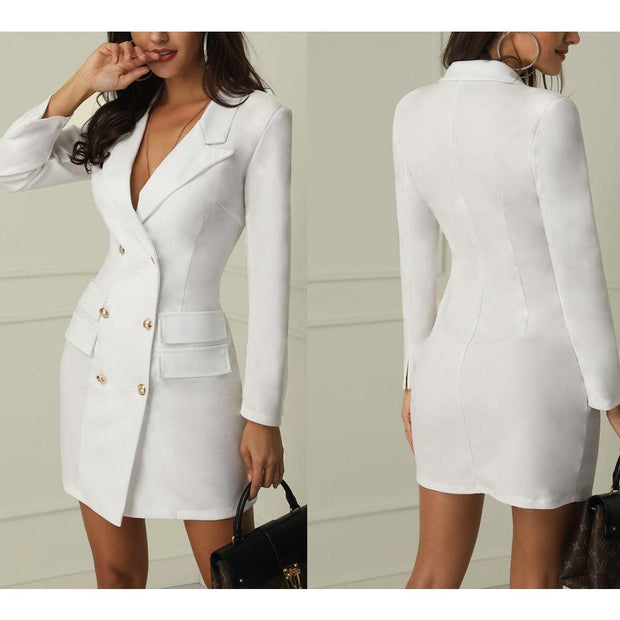 Robe Tailleur Tendance Minute Mode Blanc S