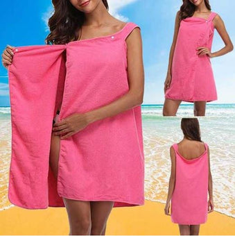 Robe/Serviette de Plage Minute Mode Rose/Rouge