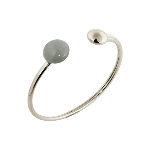 Grey moonstone flexy bangle