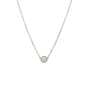 Grey moonstone slider necklace