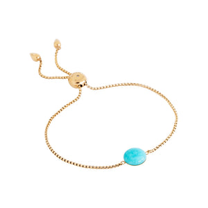 Blue amazonite slider bracelet