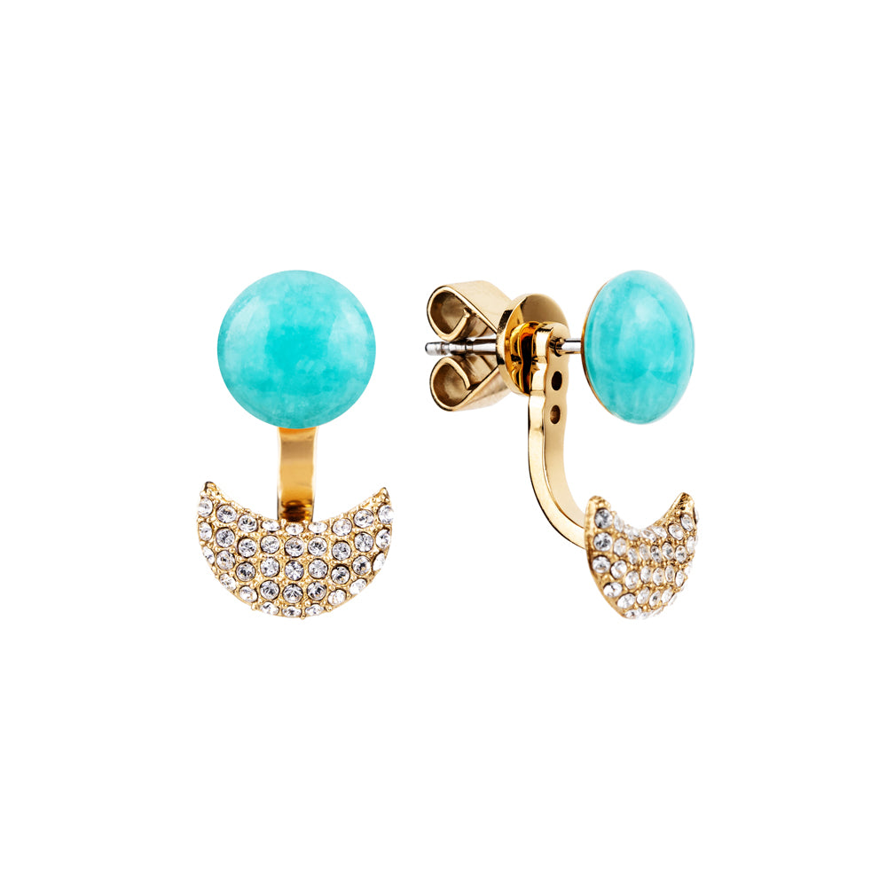Lunar adjustable blue amazonite earring