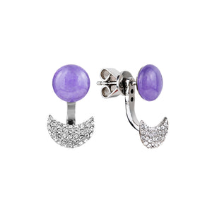 Lunar adjustable lavender quartzite earring