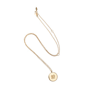 Yellow Gold MP Medal Pendant Necklace