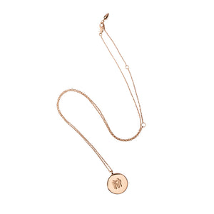 Rose Gold Medal Pendant Necklace