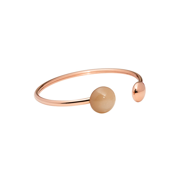 Peach moonstone flexy bangle