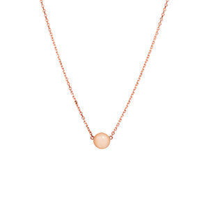 Peach moonstone slider necklace