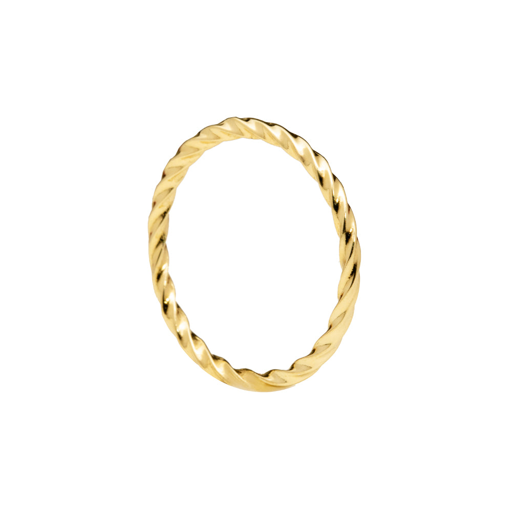 Helical ring gold tone