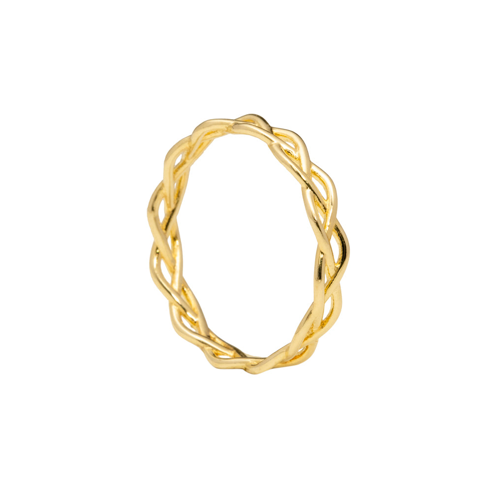 Braided ring gold tone